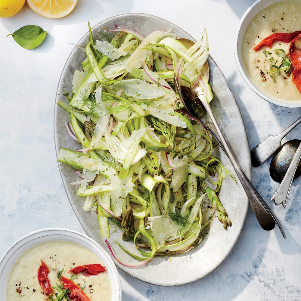 Shaved Asparagus and Fennel Salad with Meyer Lemon Dressing