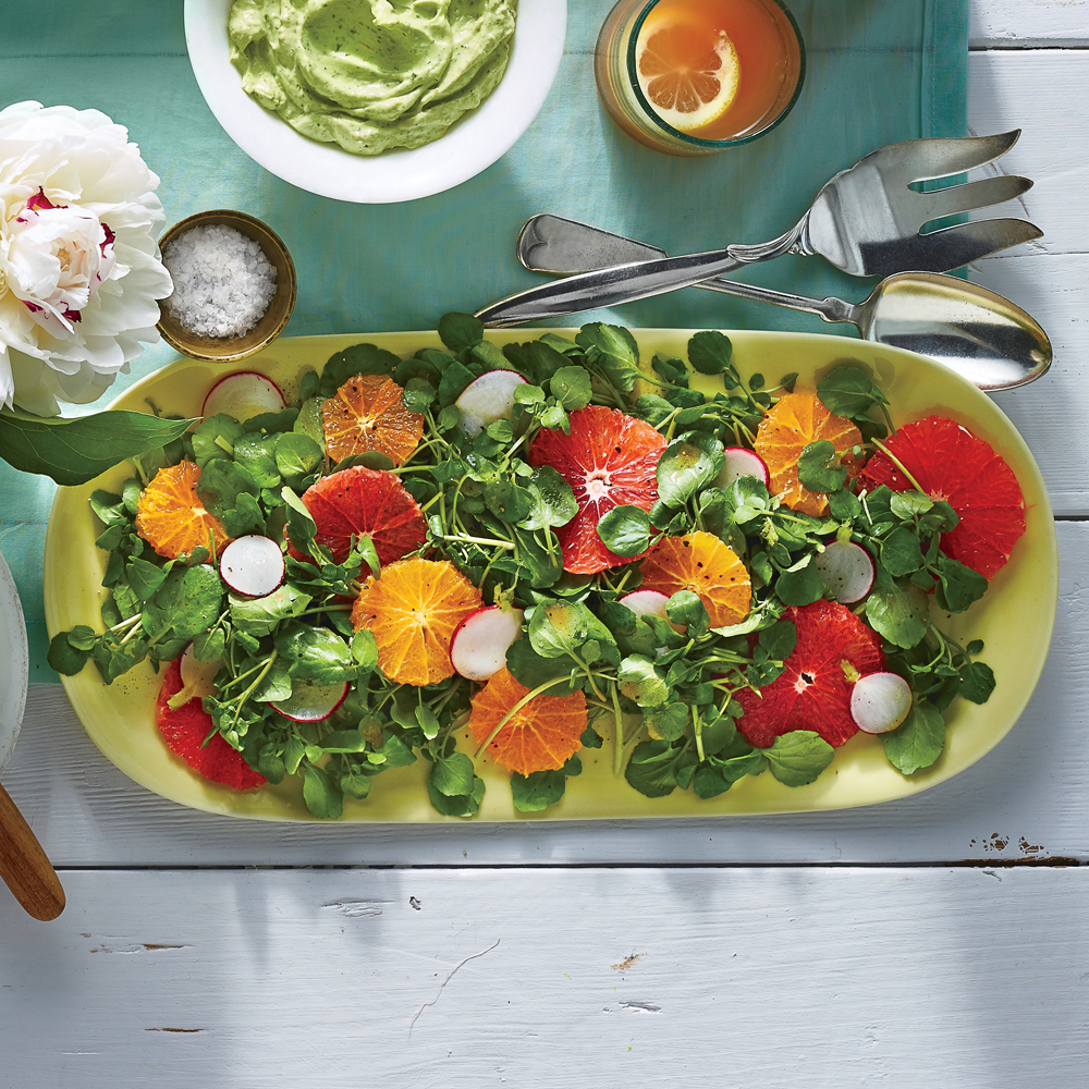 Citrus Watercress Salad with Vanilla Bean Vinaigrette