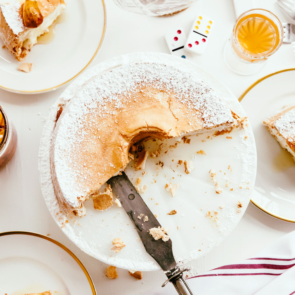 Lemon and Vanilla Angel Food Cake