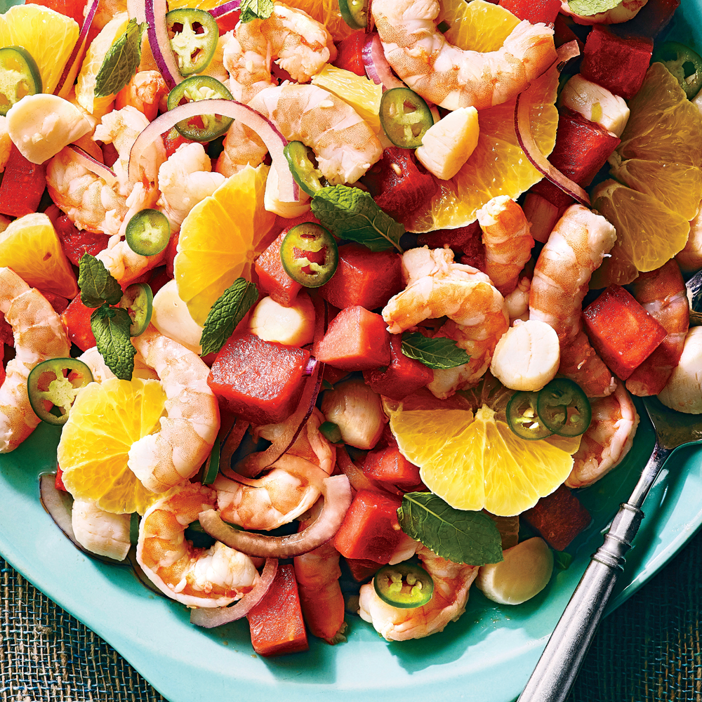 Watermelon-Shellfish Ceviche