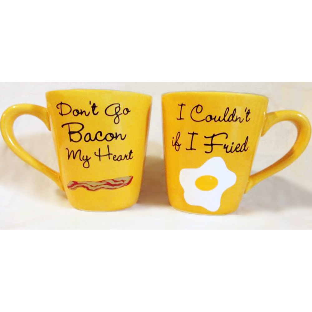 <p>Matching Breakfast Mugs</p>