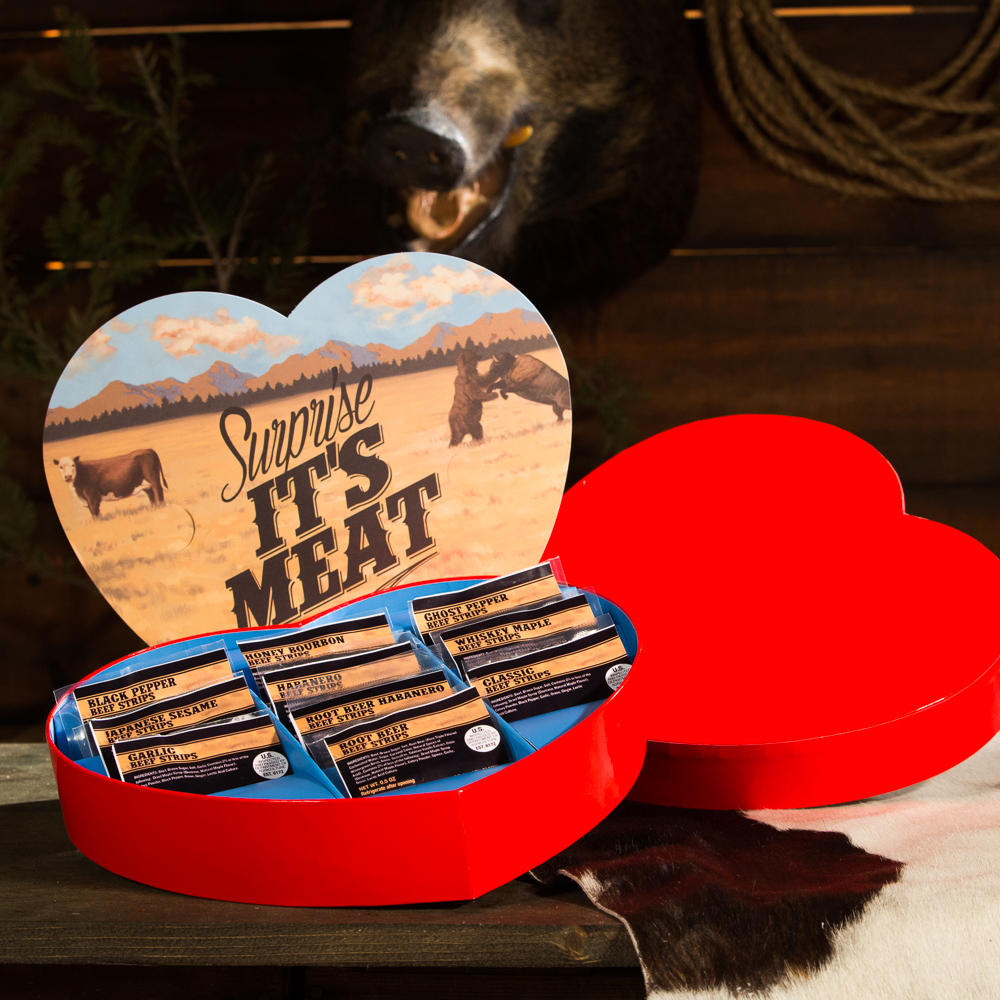 <p>Valentine's Day Jerky Heart</p>