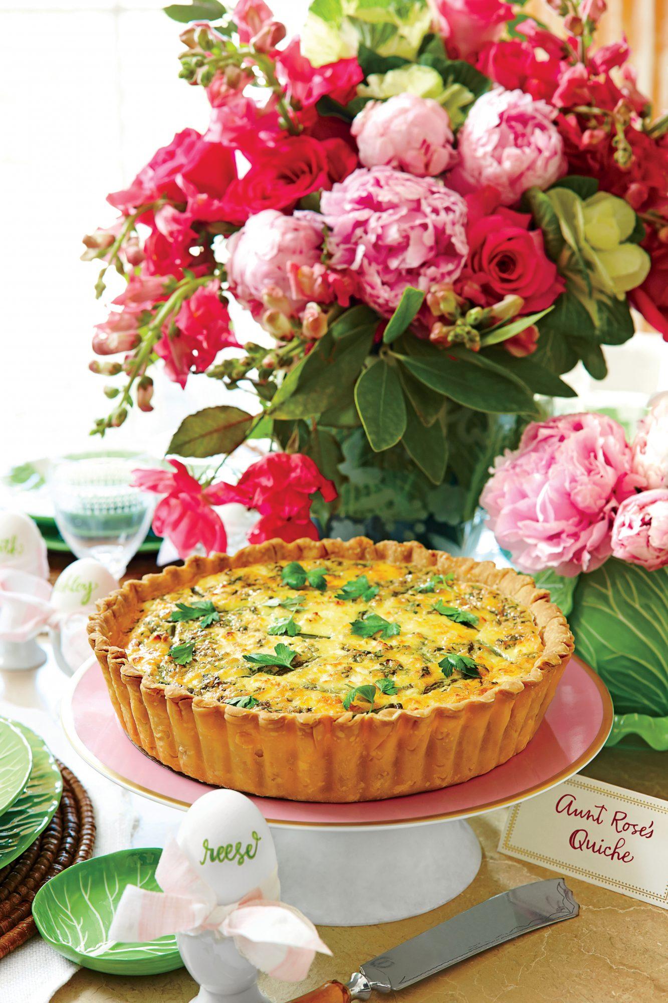 Asparagus, Spring Onion, and Feta Quiche