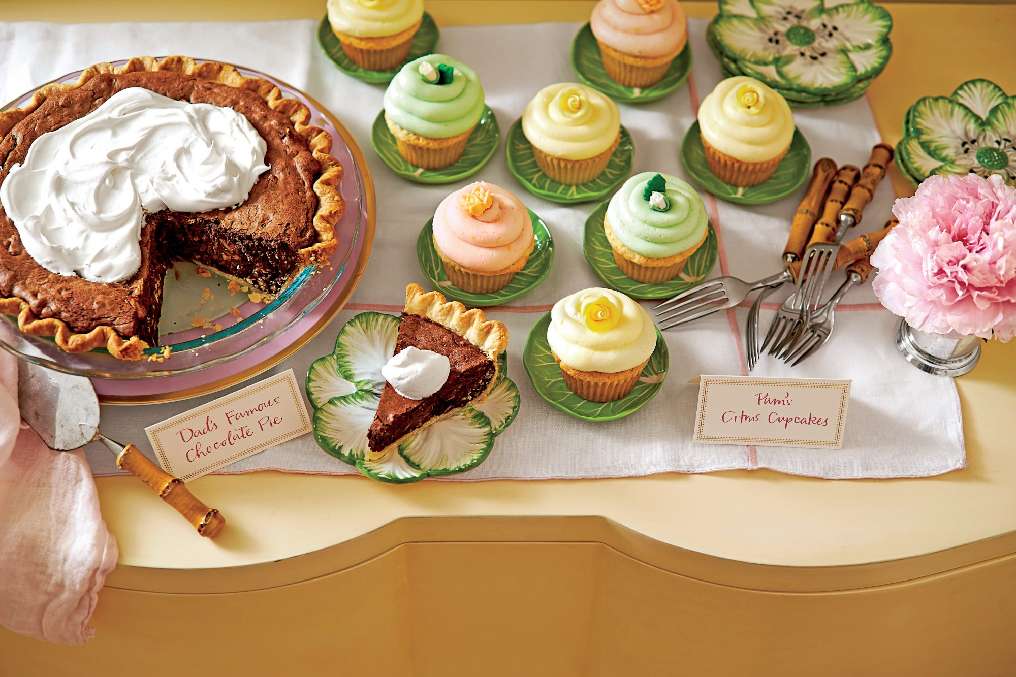 Chocolate Truffle Pie & Amaretto Cream Recipe   MyRecipes
