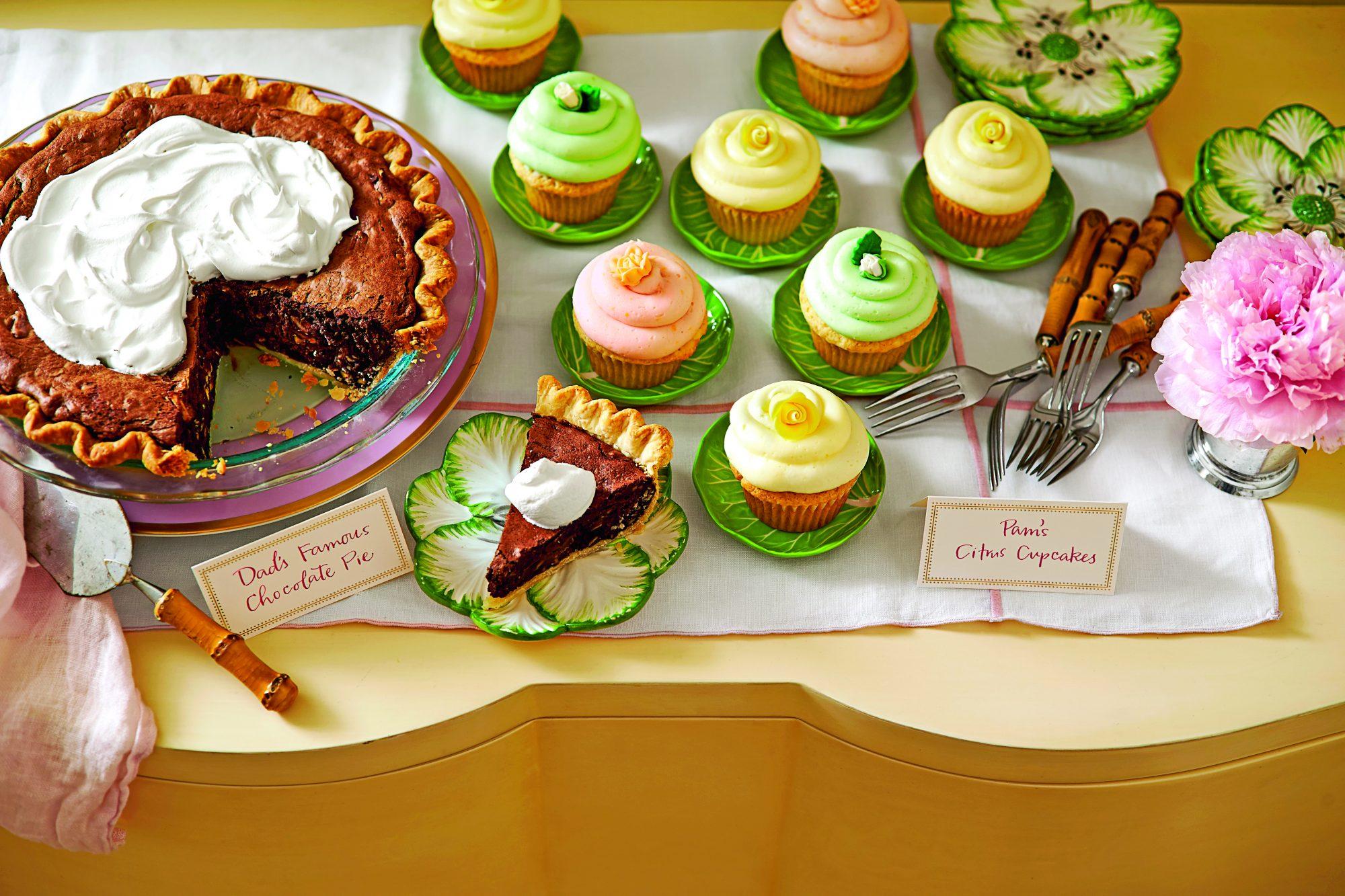 Lime Sherbet Cupcakes