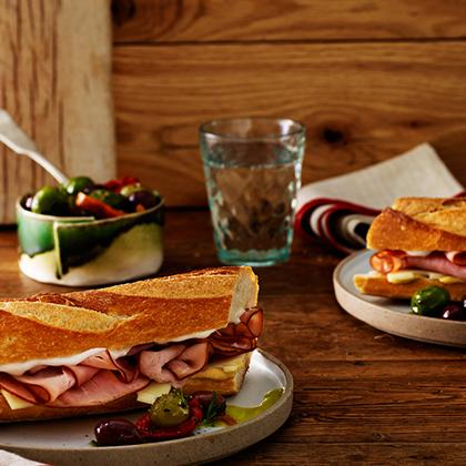 Turkey and Ham on Baugette