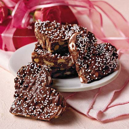 Valentine's Day Treats: Crispy Chocolate Hearts