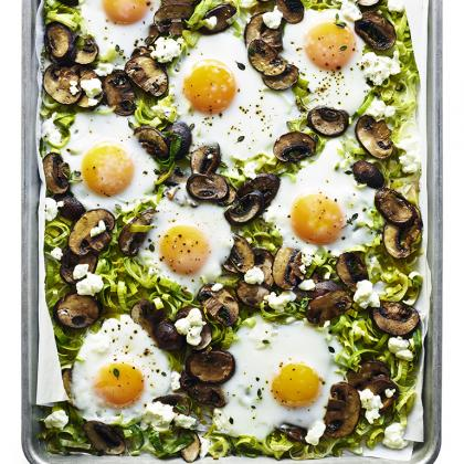 Baked Eggs with Leeks and Mushrooms