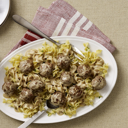 Roasted Garlic Swedish Meatballs