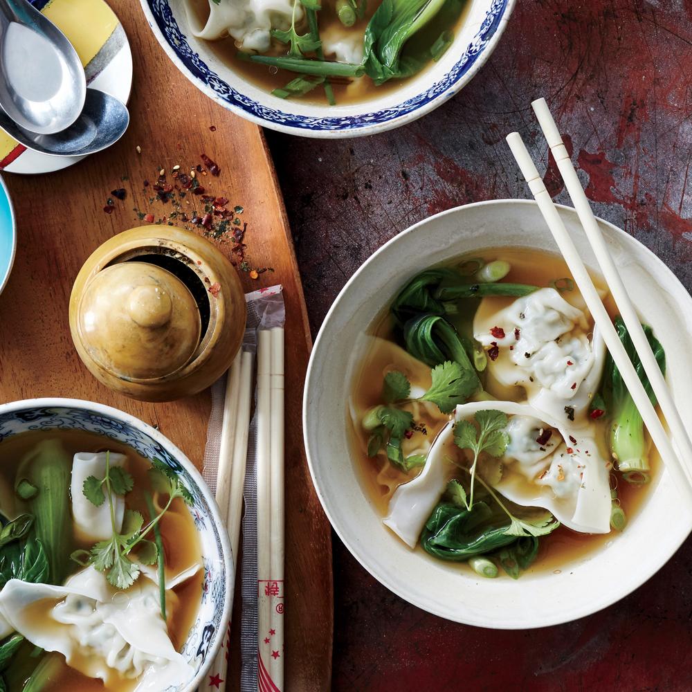 Chicken Watercress Wonton Soup