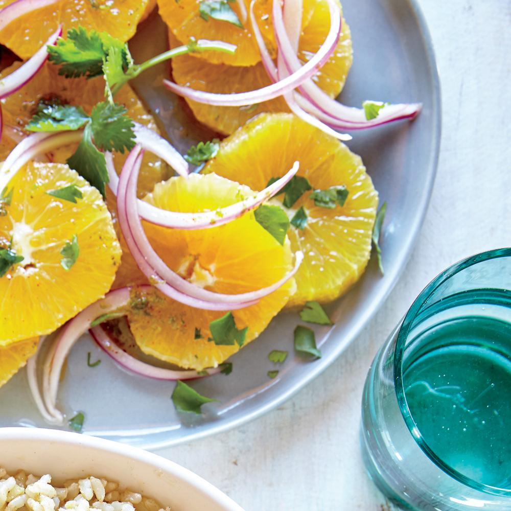 Orange Red Onion and Cilantro Salad