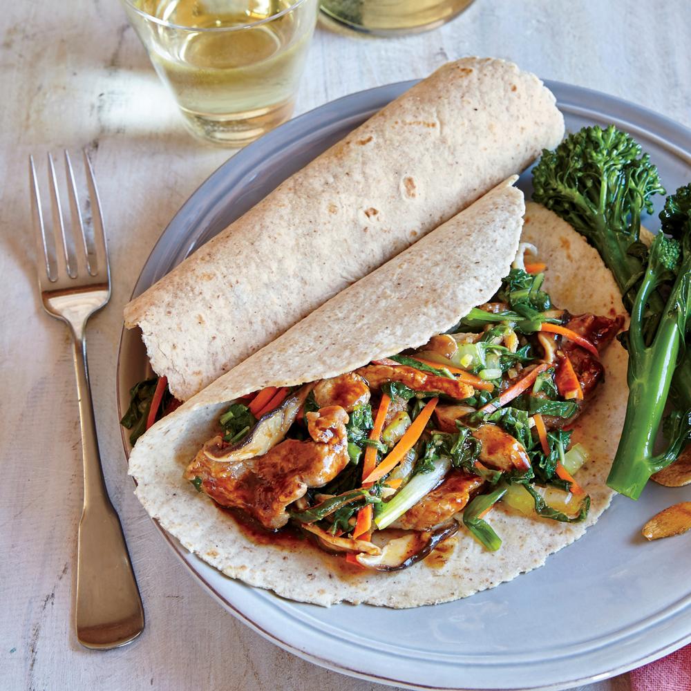 Mu Shu Pork Wraps Recipe - 1