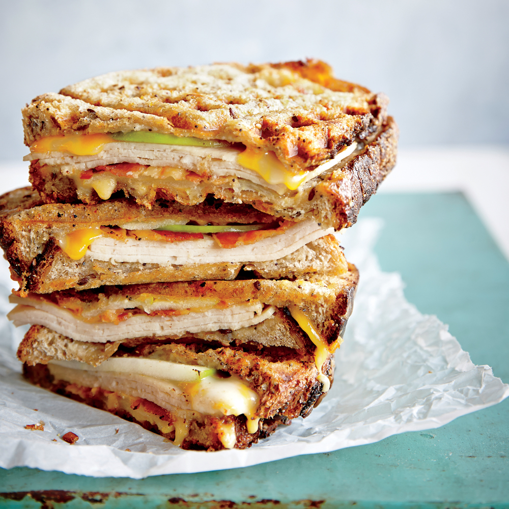 Waffle Iron Turkey Melt Panini Recipe