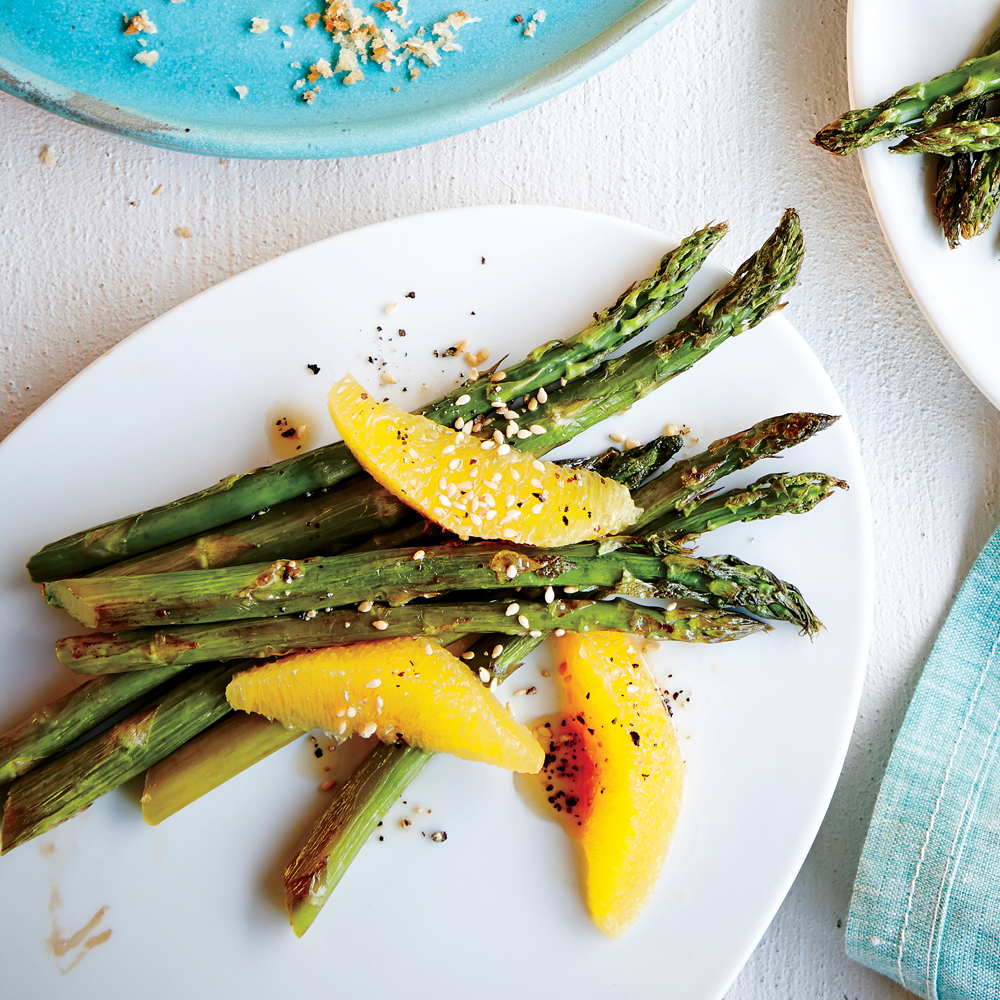 Asparagus with Sesame and Citrus Vinaigrette