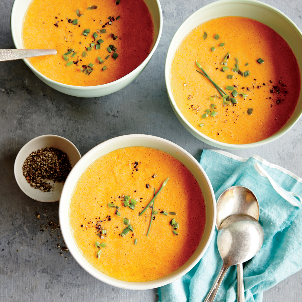 Roasted Red Pepper and Ricotta Soup