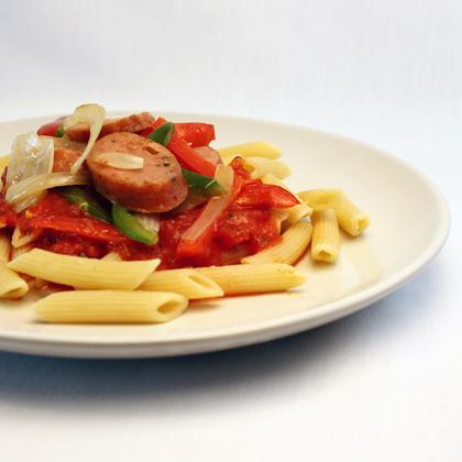Italian Sausage and Pasta Dinner