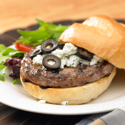 Black and Bleu Burger