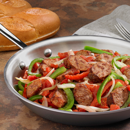 Johnsonville® Italian Sausage, Onions & Peppers Skillet