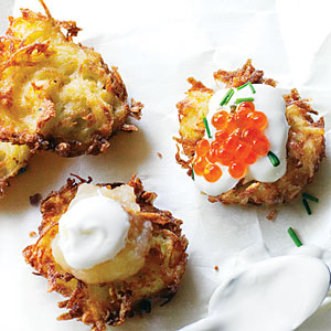 Latkes are traditionally served on Hanukkah.