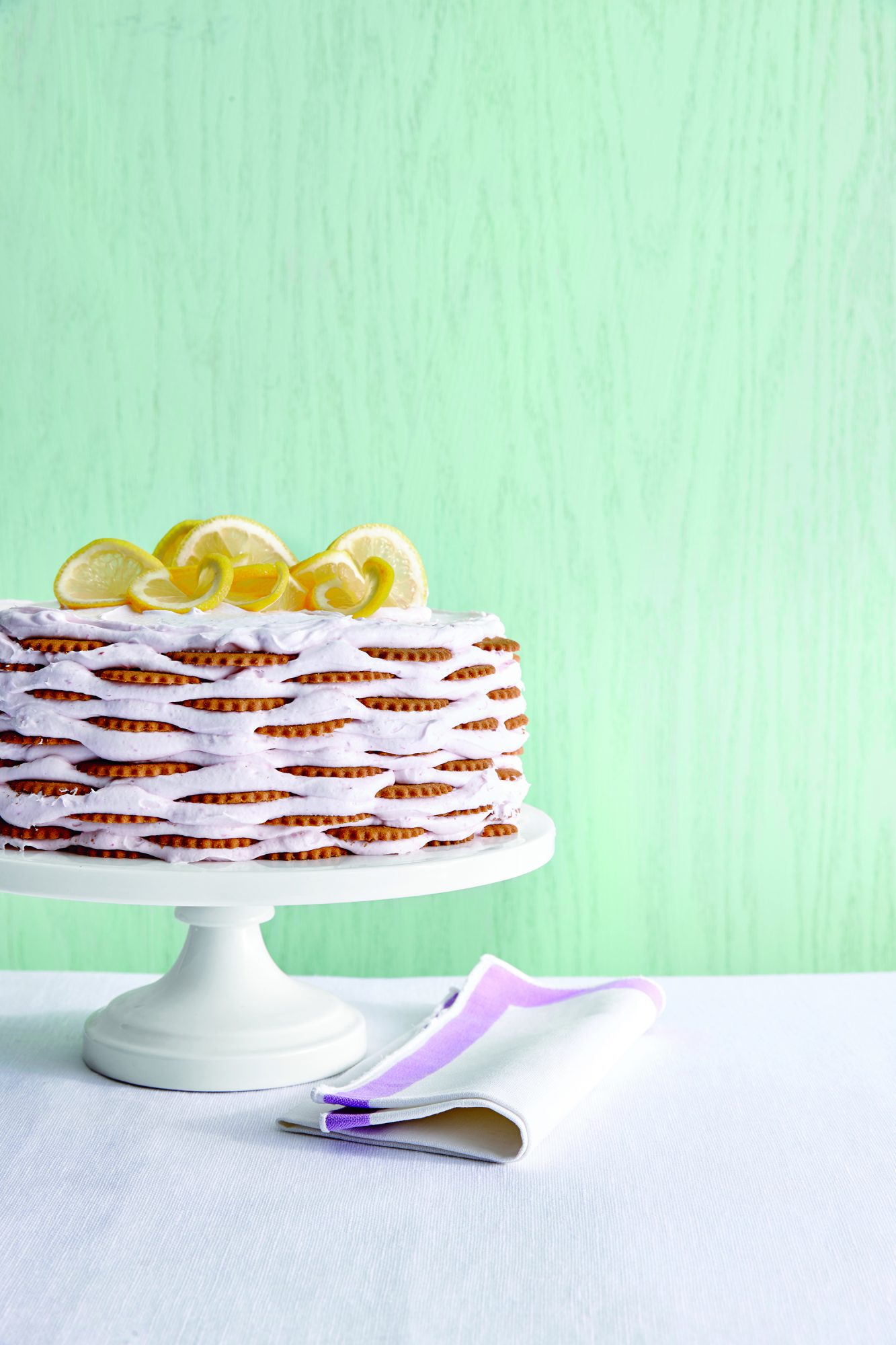 Pink Lemonade Icebox Cake