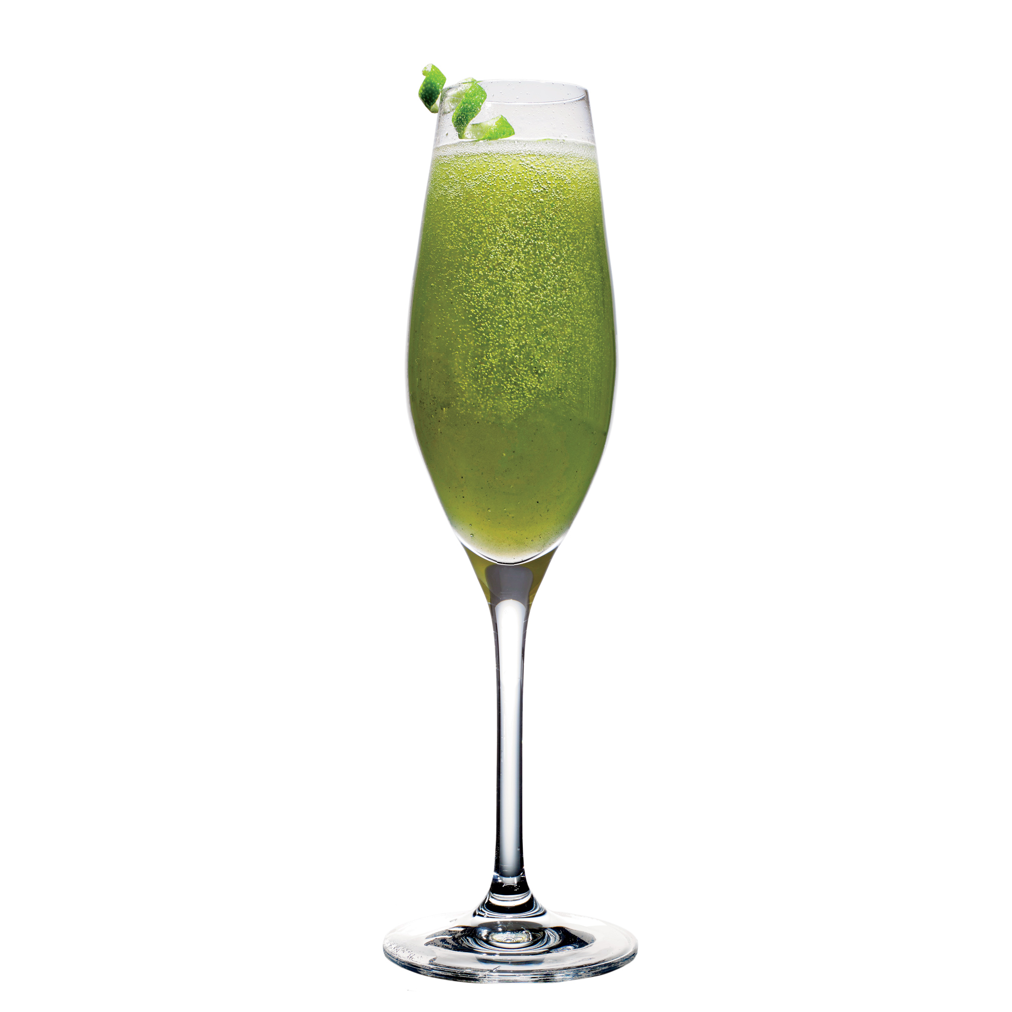 Sparkling Matcha Mint Cocktail