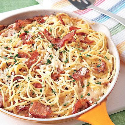 Pasta Carbonara FrittataRecipe