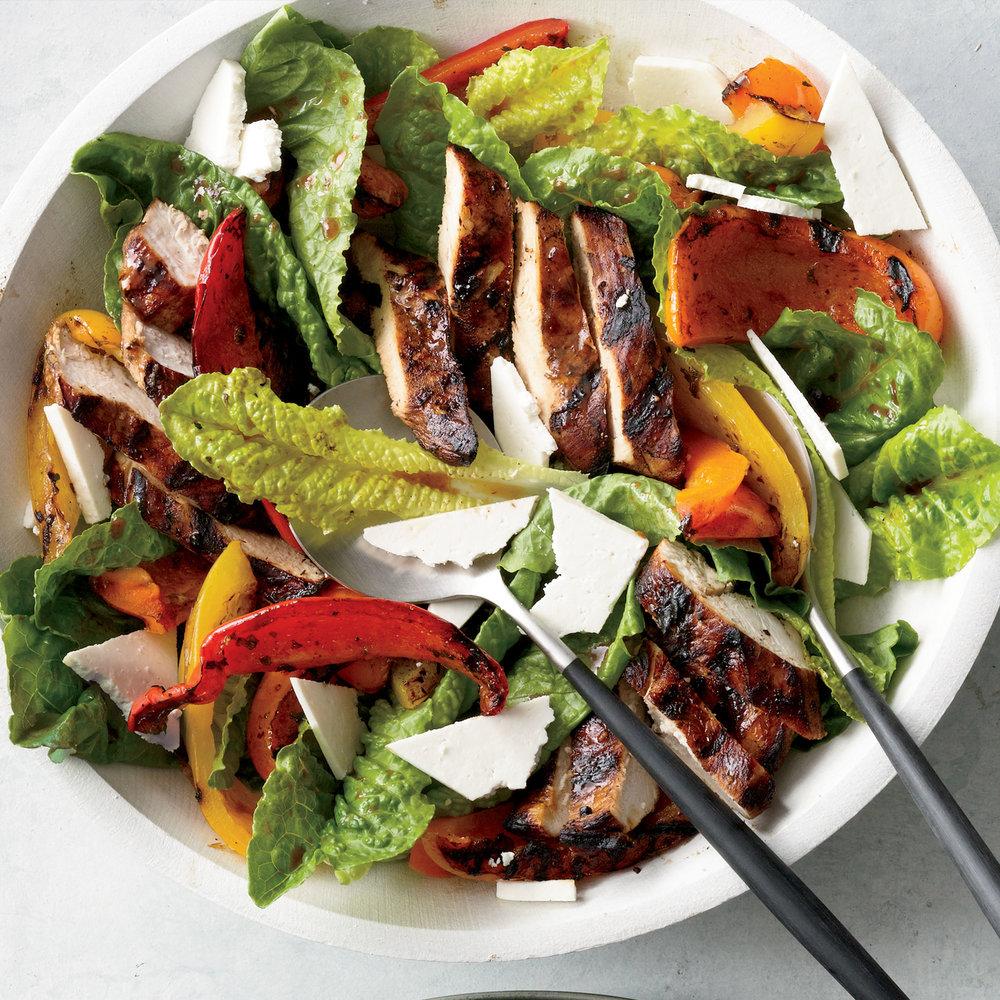 Grilled Chicken Paillard Salad Recipe | MyRecipes