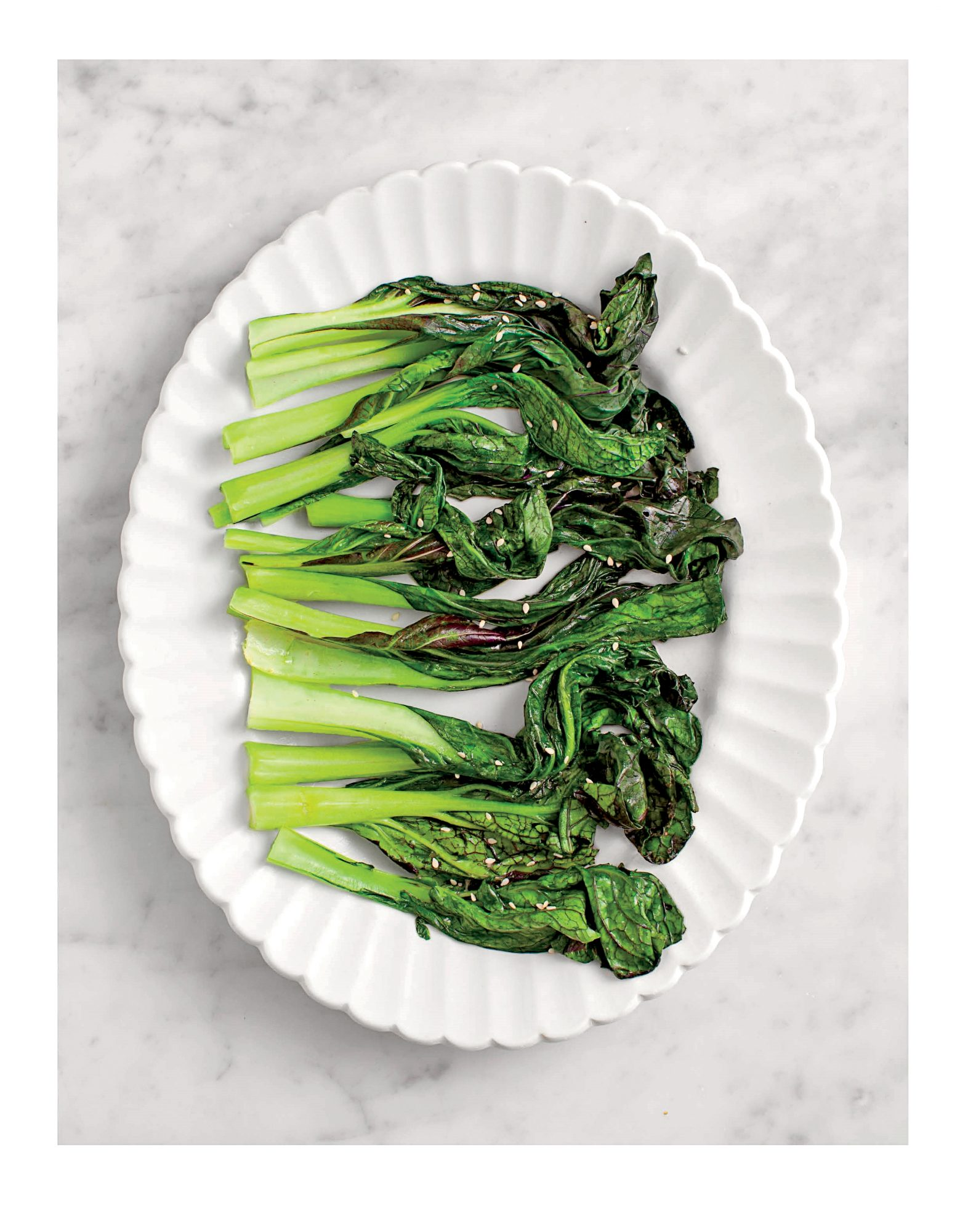 Miso Braised Mustard Greens