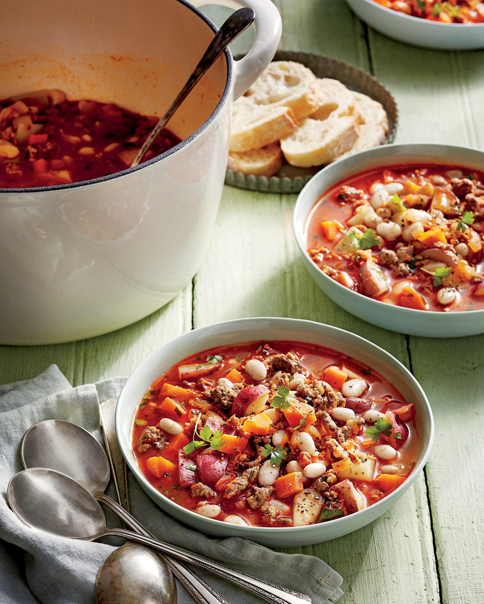 White Bean and Chorizo Soup