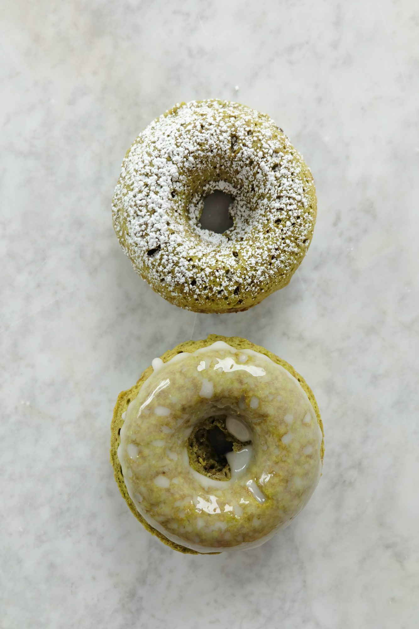 Try MyRecipes: Matcha Baked Doughnuts