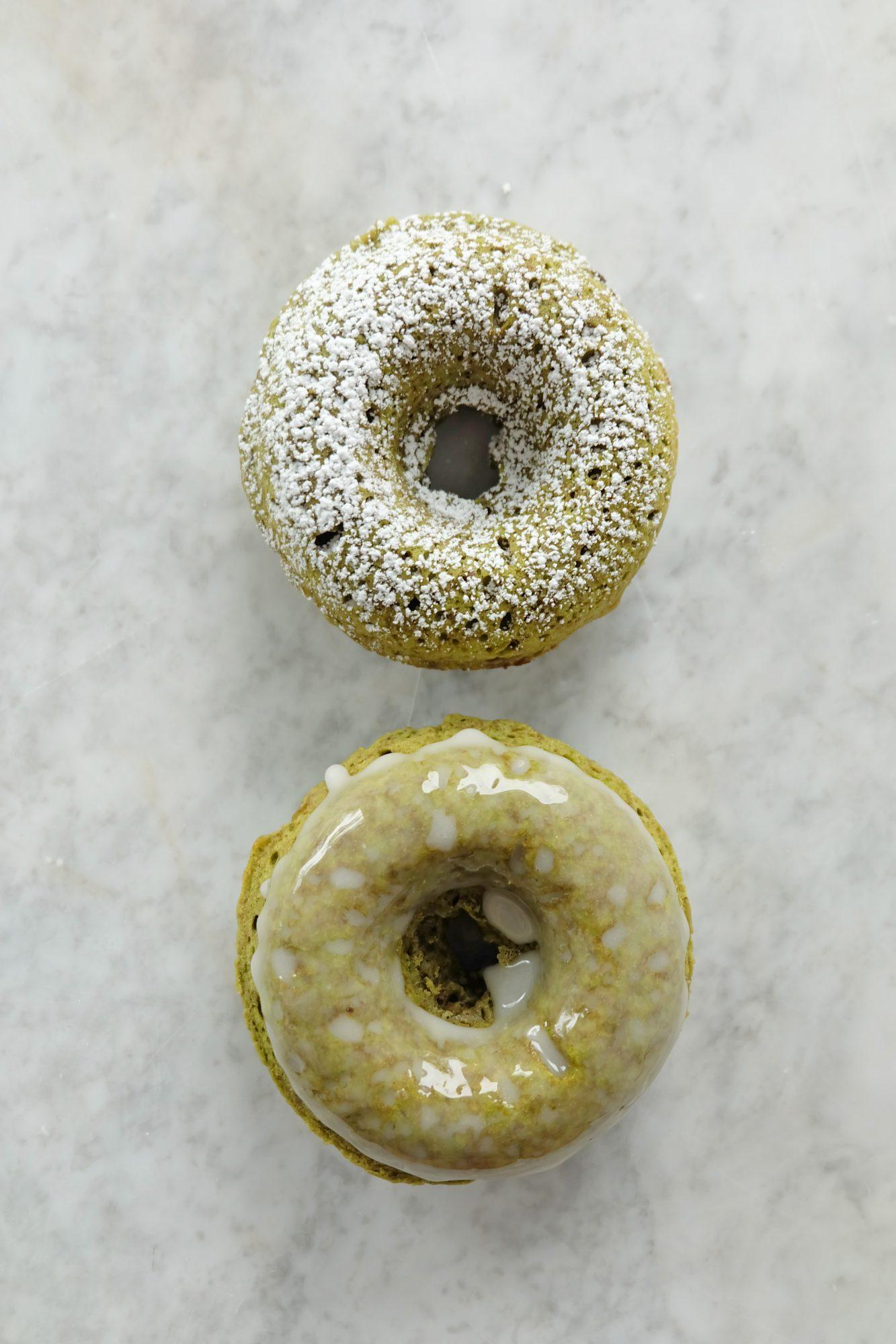 Try MyRecipes: Matcha Baked Doughnuts