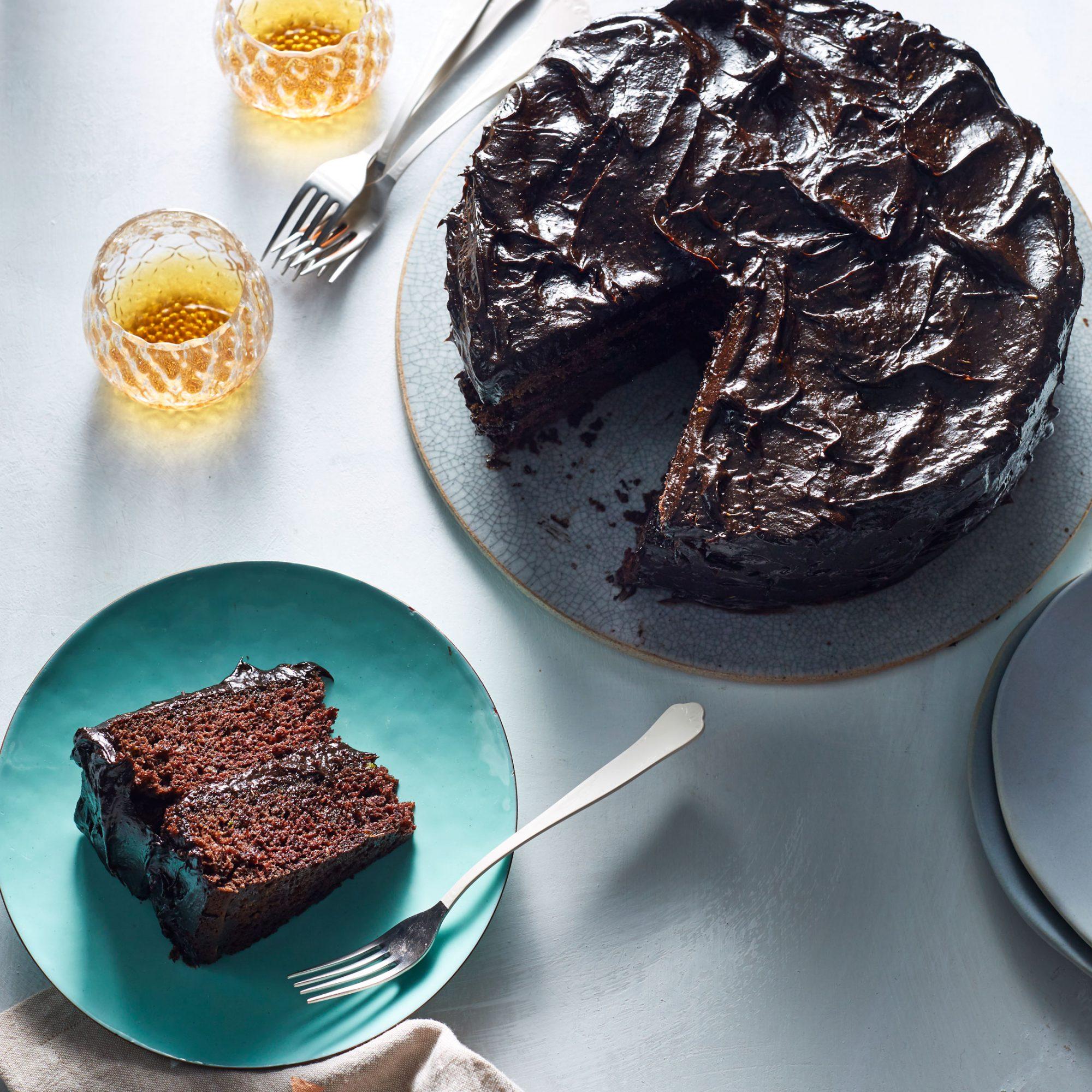 Dark Chocolate Avocado Cake with Chocolate Avocado Frosting image
