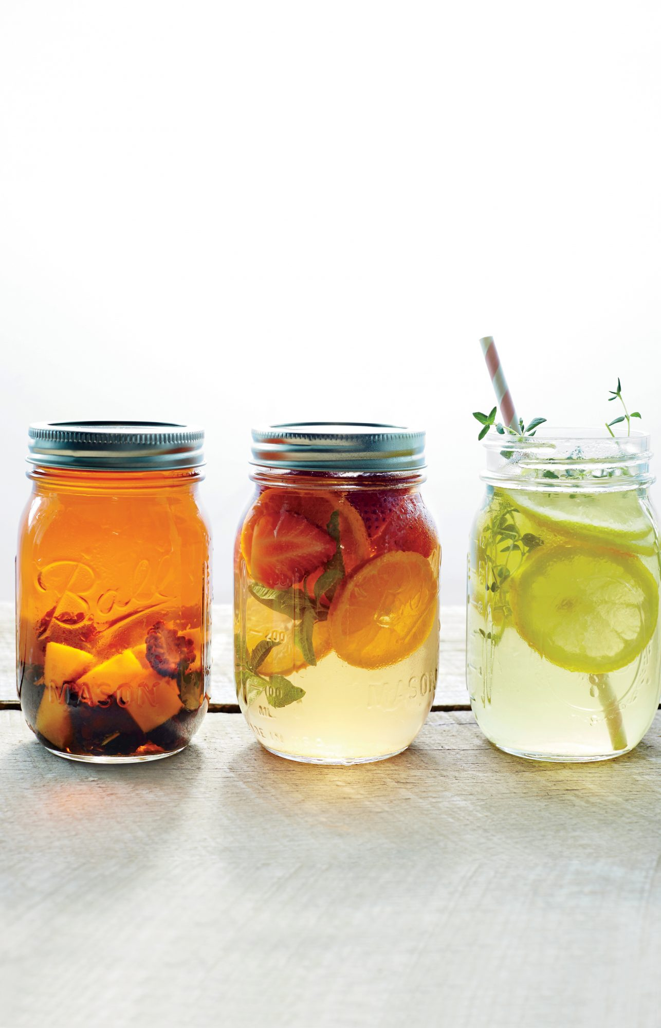 Mason Jar DrinksPut all those cute mason jars you have lying around to use with these fun and delicious drink recipes that are great for parties or even just a lazy afternoon on the porch.