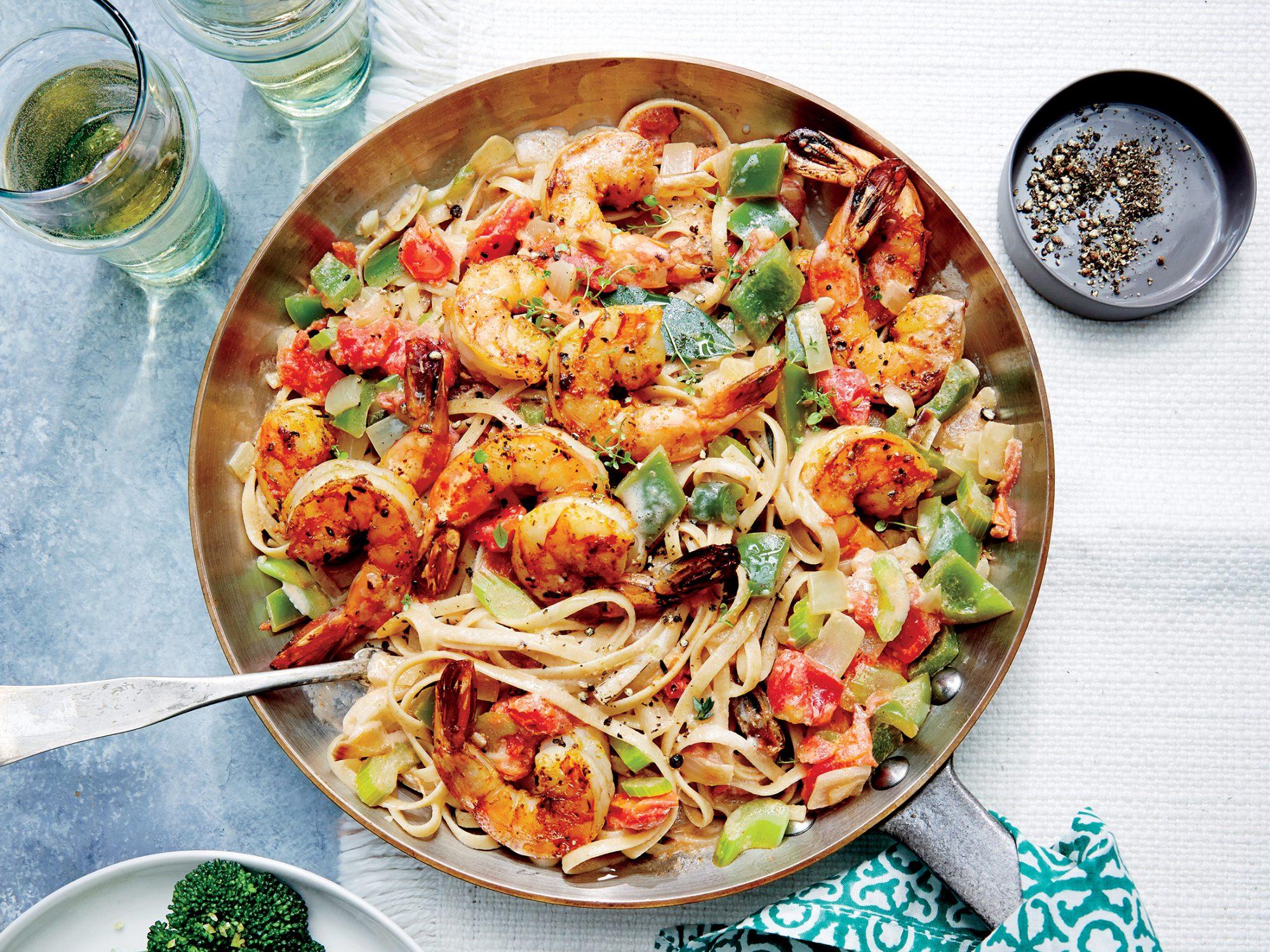 Cajun Shrimp Linguine