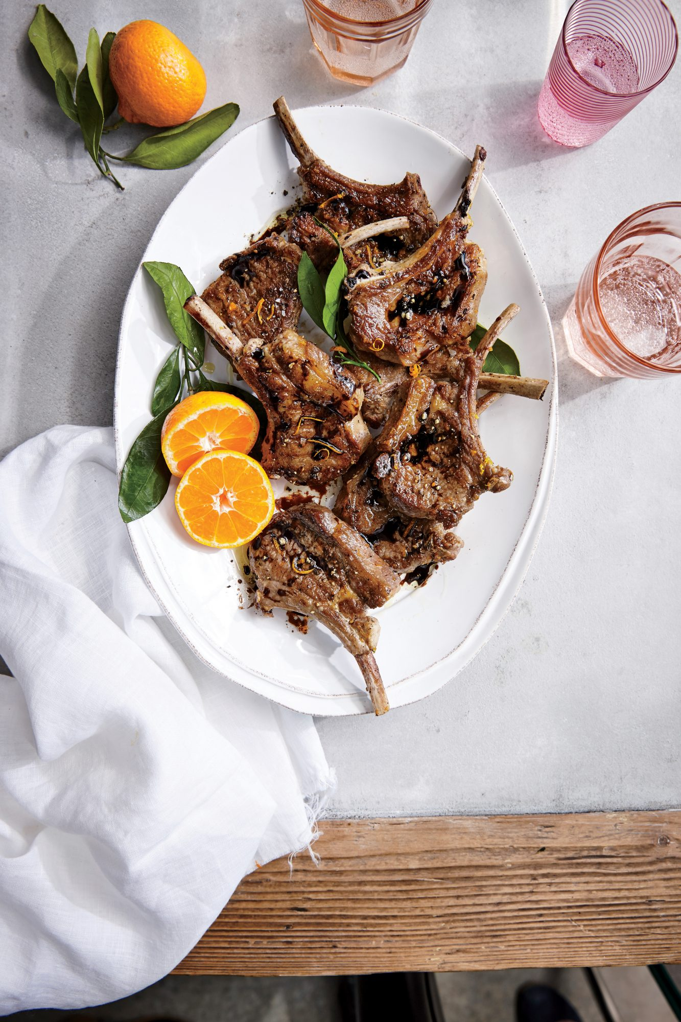 Orange Balsamic Lamb Chops
