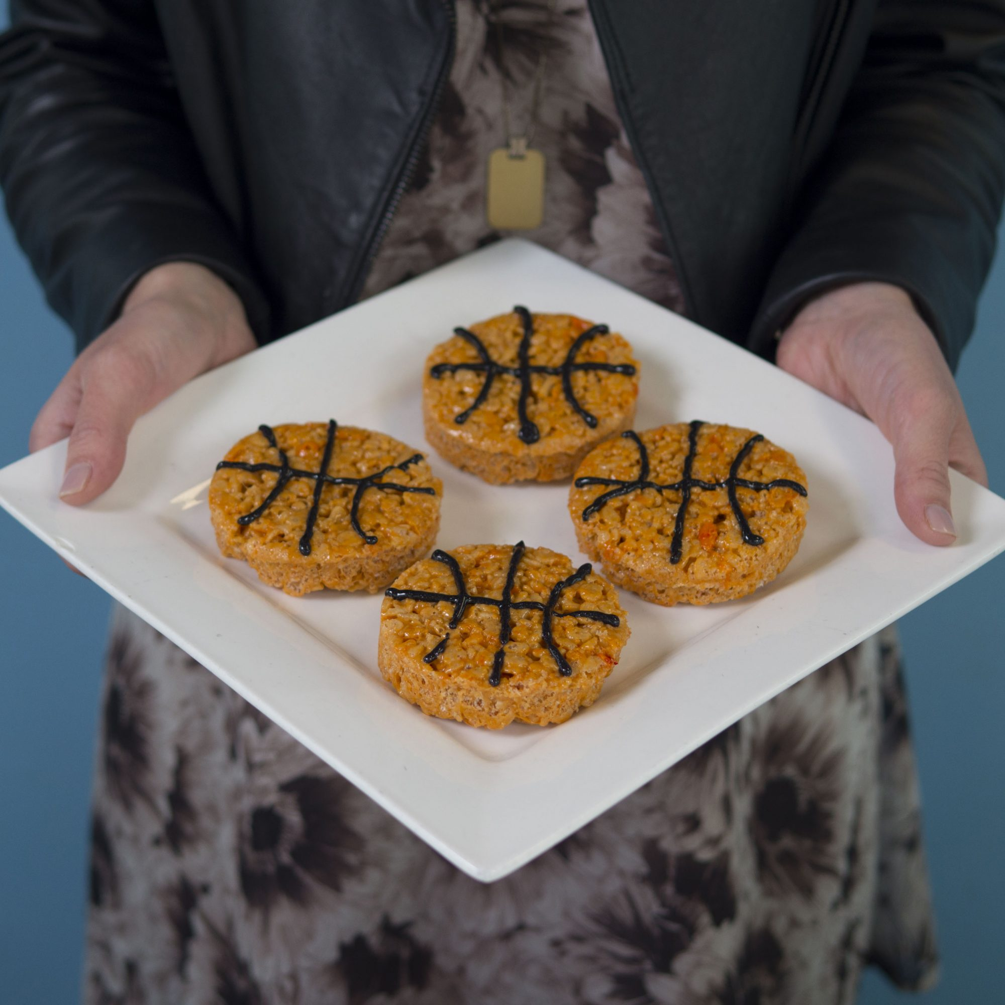 March Madness Basketball Rice Krispies Treats
