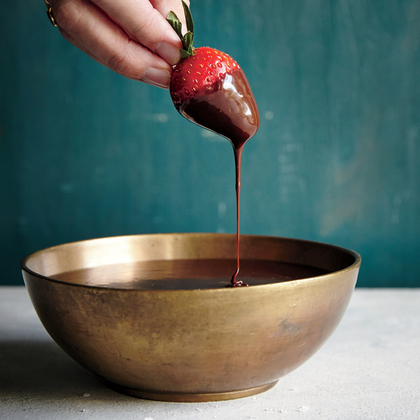 Easy Chocolate Bourbon Fondue