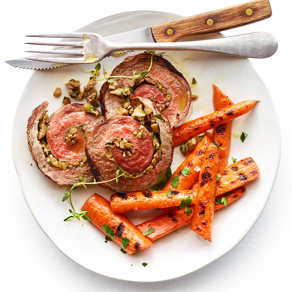 Herb Stuffed Flank Steak