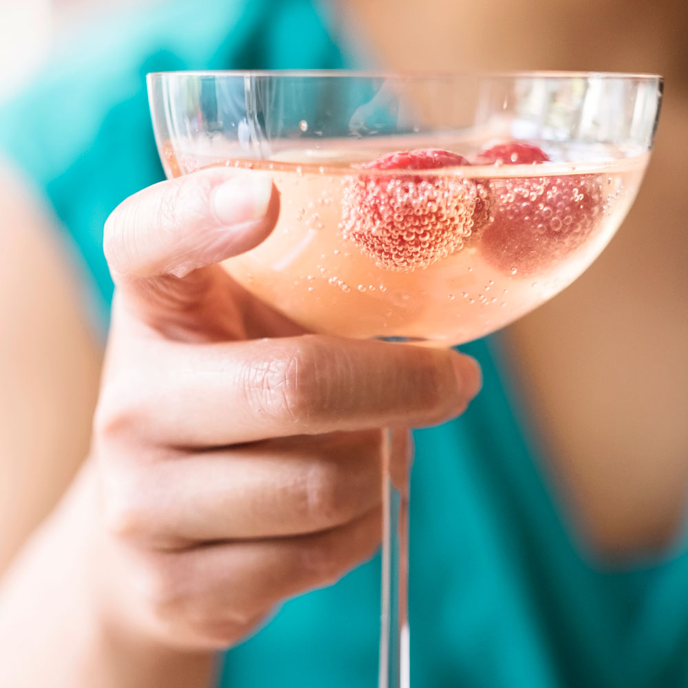 Litchi Raspberry Cocktail