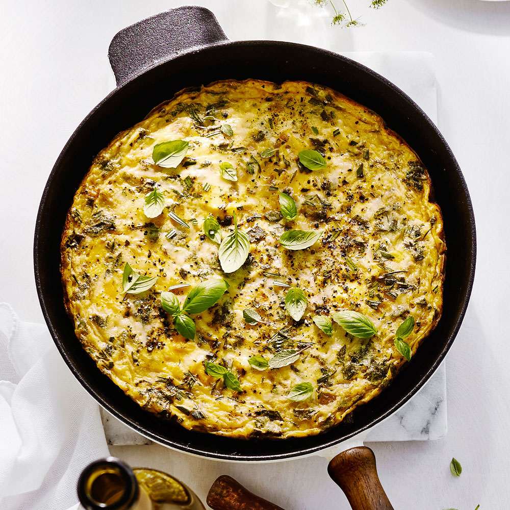 Regina's Herb and Gruyere Frittata