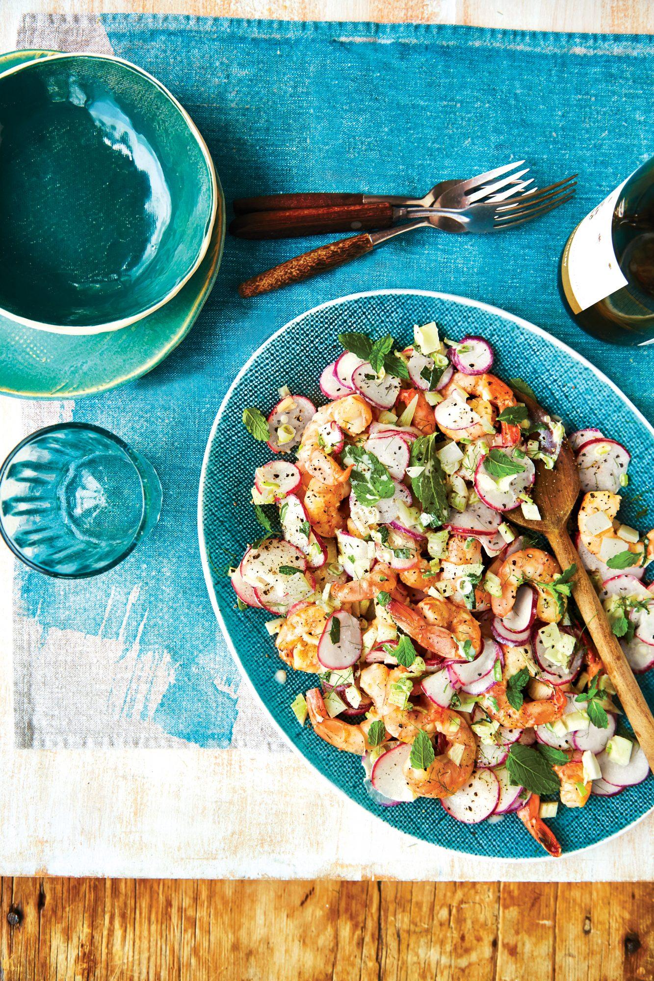 Georgia Shrimp and Radish Salad