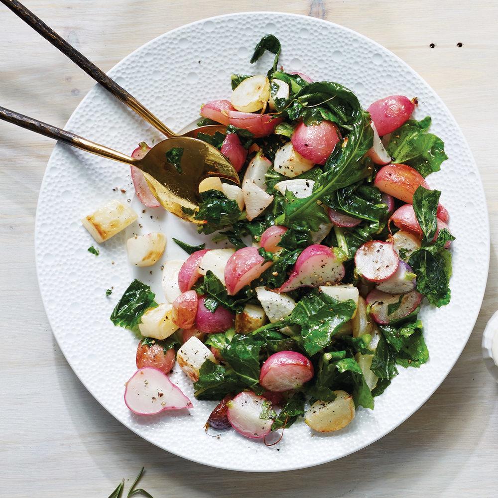 Radish Turnip Saute