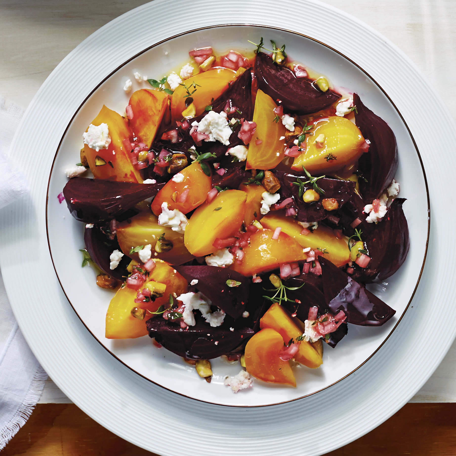 Spring Beets with Rhubarb Vinaigrette