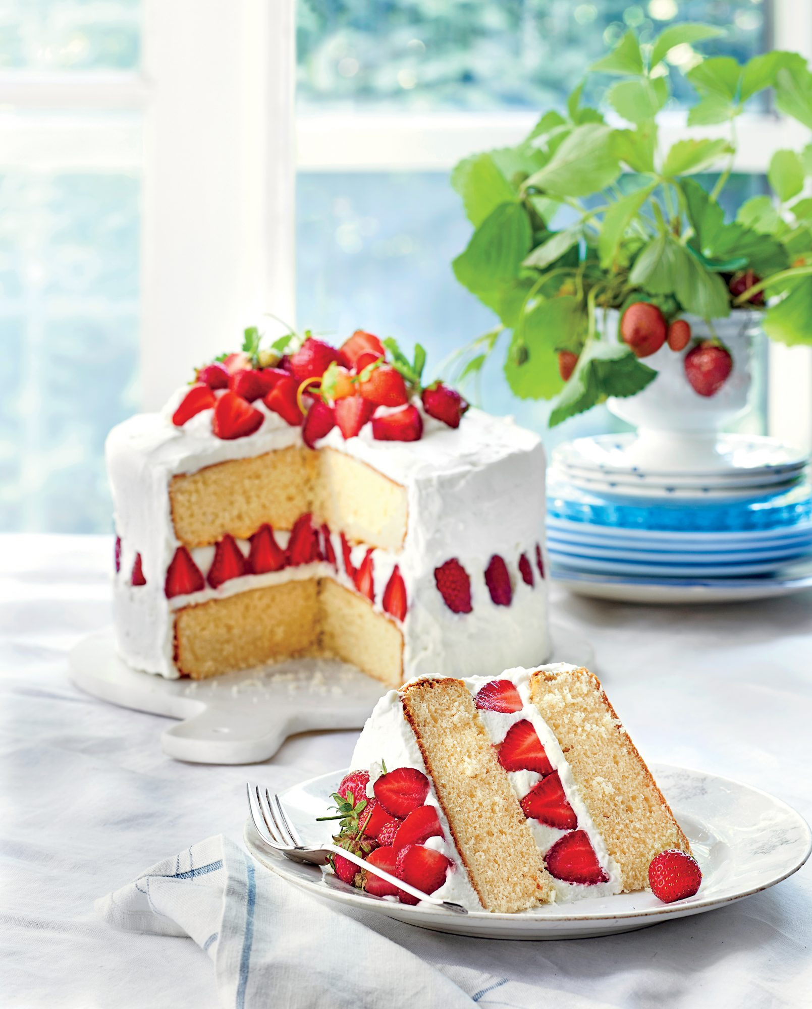 Strawberry Cake With Cake Flour