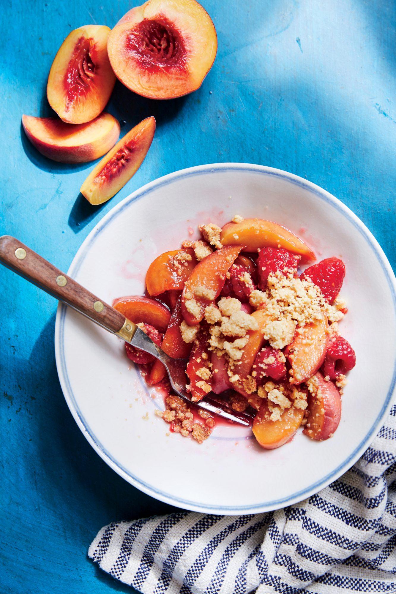 Nectarine and Berry Crumble