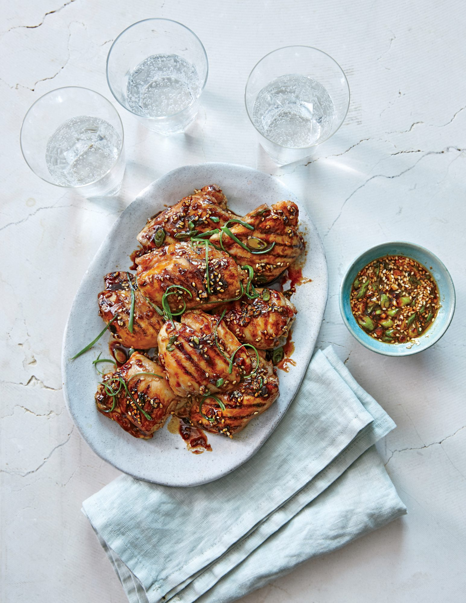 Chicken Thighs with Ginger Sesame Glaze