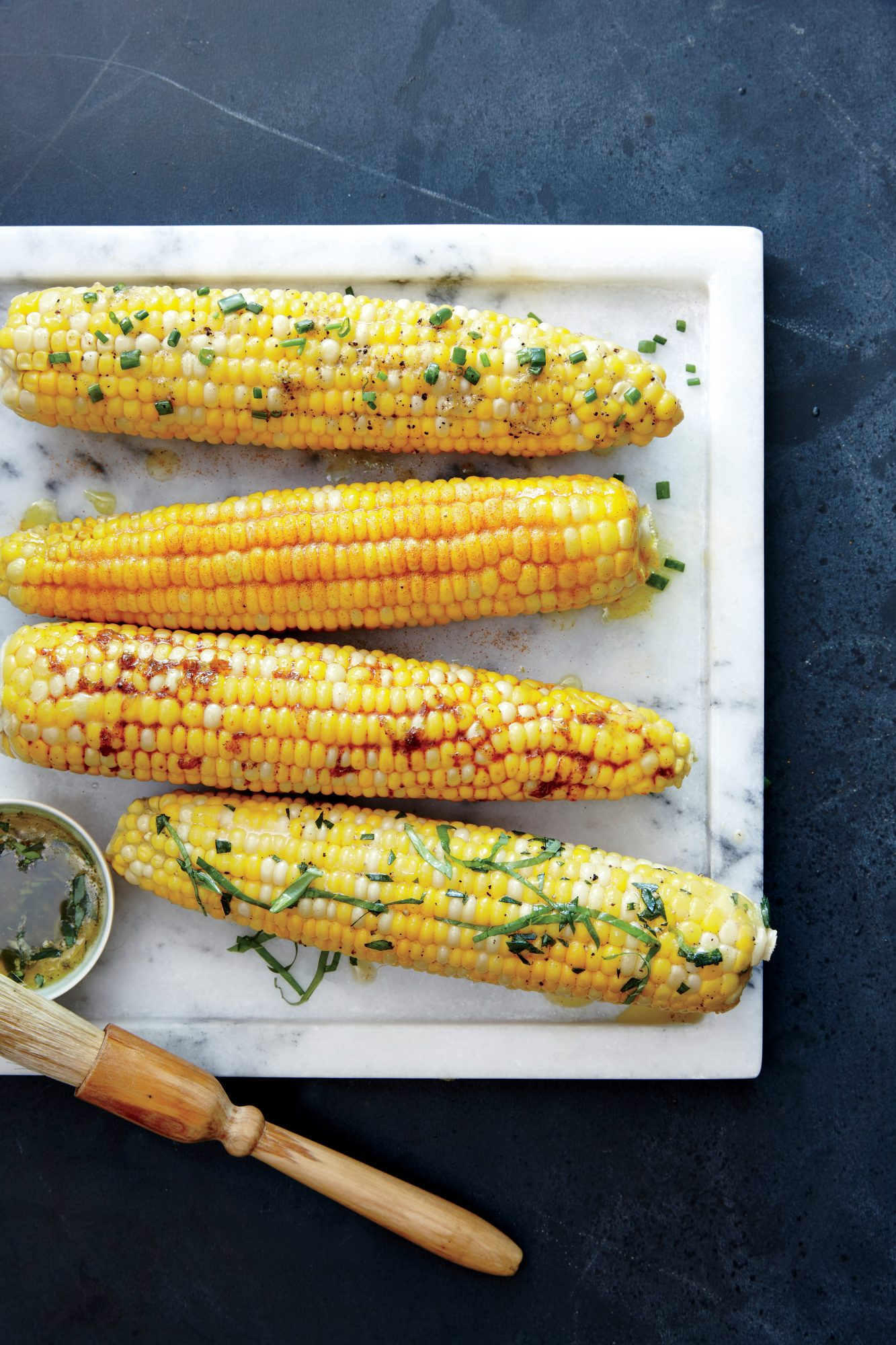 Corn on the Cob with Lemon Chive Butter