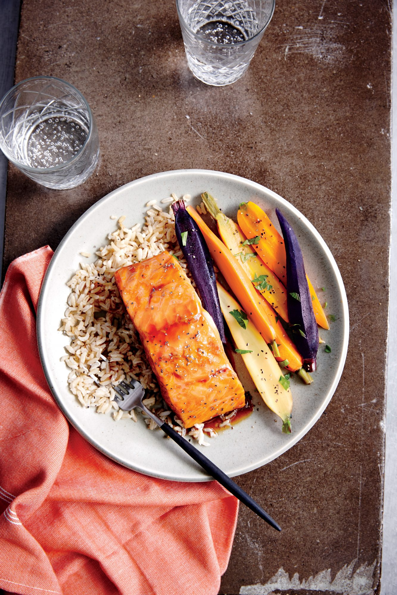 Honey Ginger-Glazed Salmon