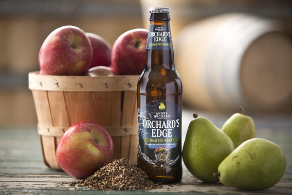 Angry Orchard combines pear juice with their classic hard apple cider in their newest addition, Knotty Pear.