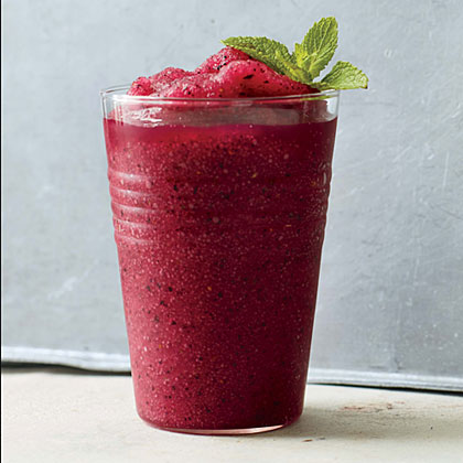 Blueberry-Mint Frozen Gimlet